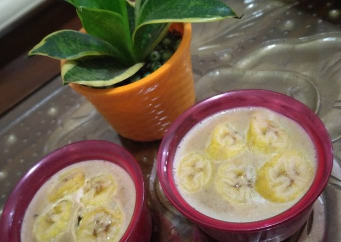 Puding roti pisang kukus (cocok untuk diet)