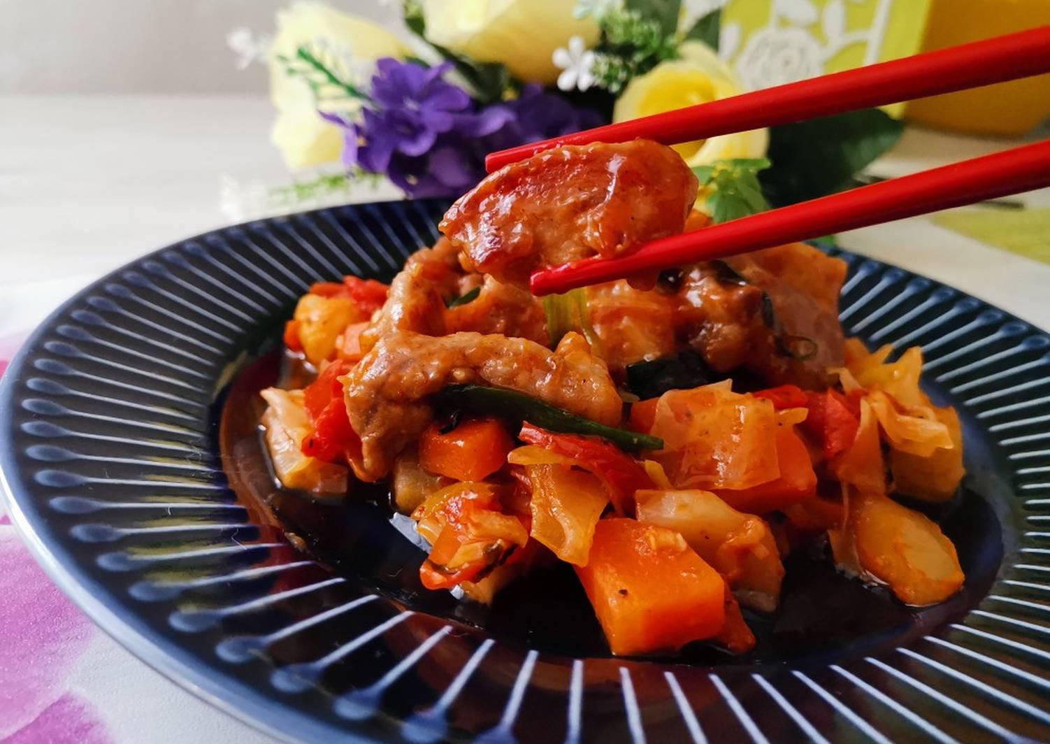 Мясо в крахмале по китайски рецепт с фото