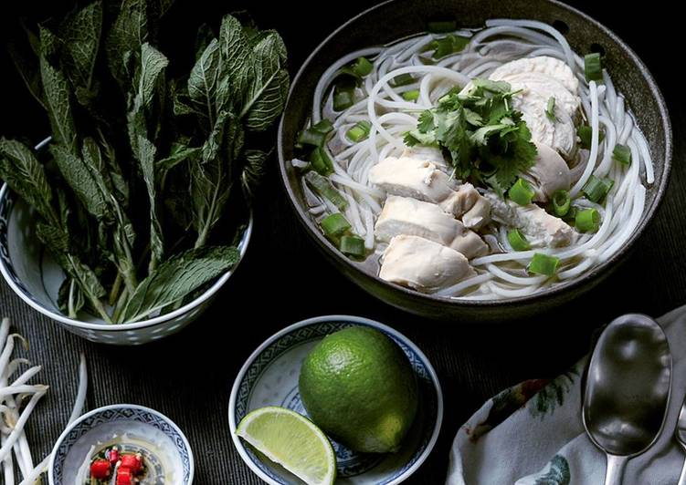 Recipe of Any-night-of-the-week Pho Ga, Vietnamese Chicken Noodle Soup
