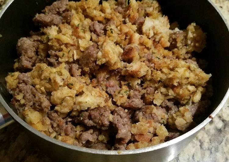 Recipe of Favorite Sage sausage stuffing