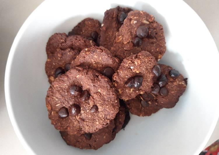 Rolled Oat Chocolate Cookies cocok u/ diet -tanpa telur & tepung