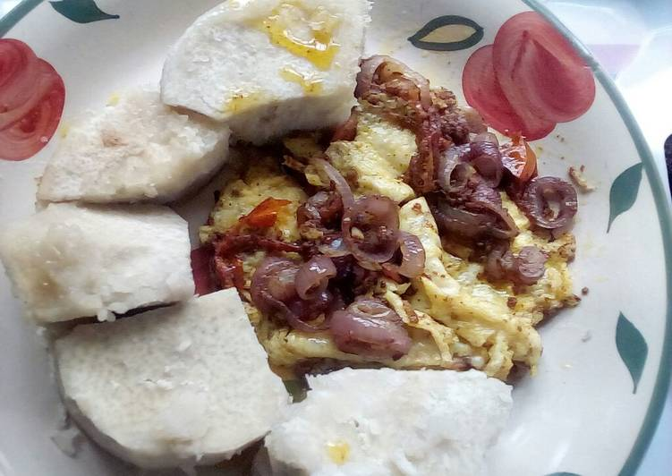 Old Fashioned Dinner Ideas Ultimate Simple egg sauce and Boiled Yam