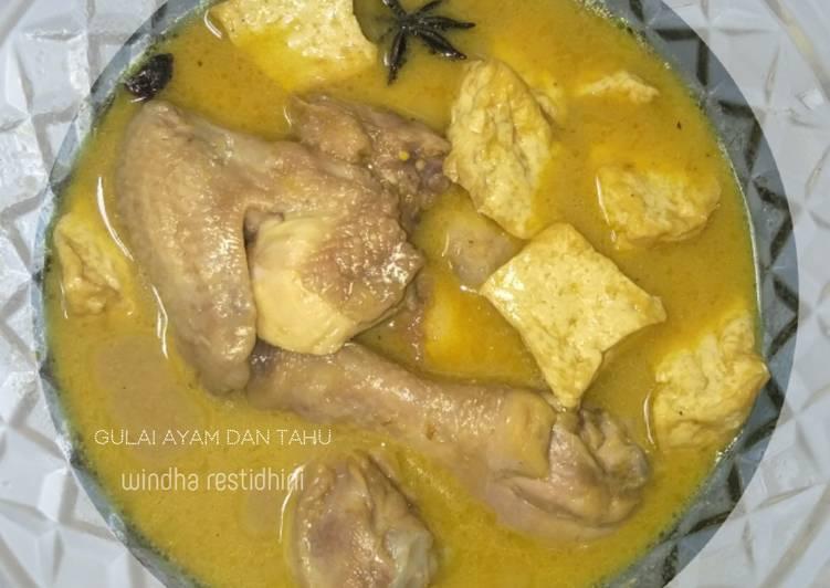 Cara Membuat Gulai Ayam dan Tahu Anti Gagal