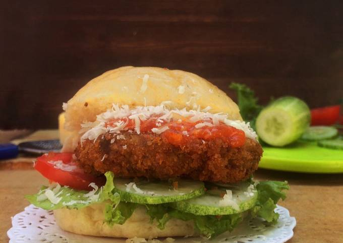 Fried Beef Burger (Homemade) - projectfootsteps.org
