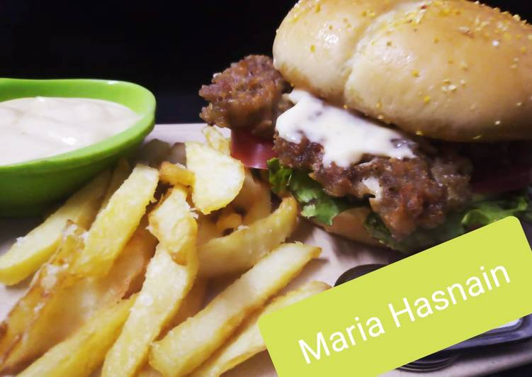Beef Burger #ramadankitayari #FastFood, Help Your To Be Healthy And Strong with The Right Foods