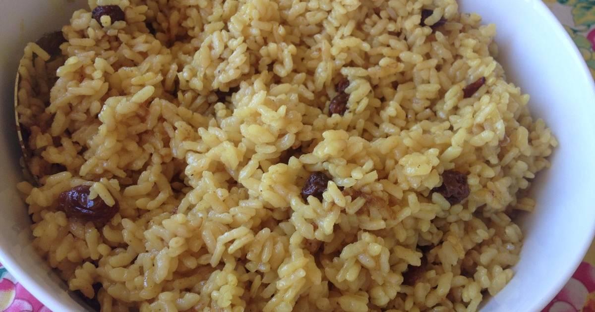 arroz al curry con pasas