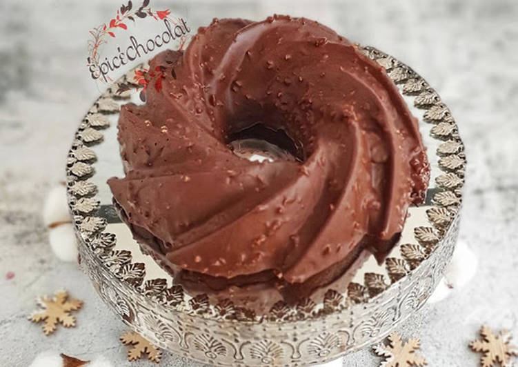 Recette Délicieux Gateau au chocolat glacage facon rocher