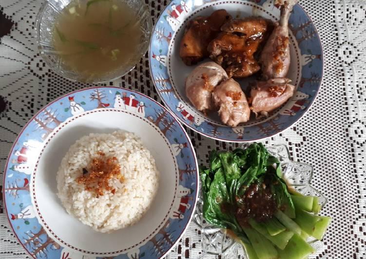 Nasi Ayam Hainam // Tumis pakcoy ?
