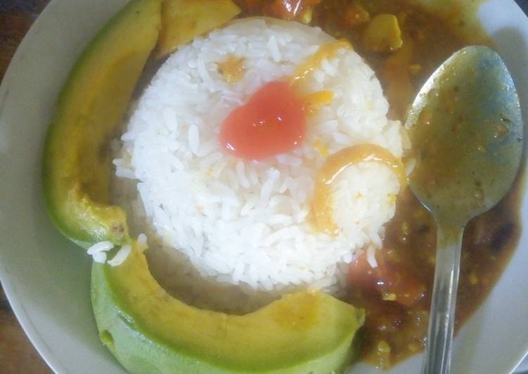 How to Prepare Super Quick Homemade Creamy Egg Curry and milk Rice