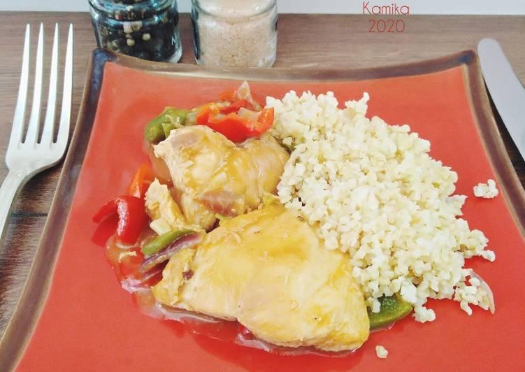 Fricasse de poulet au boulgour