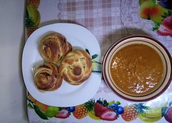 How to Recipe Tasty Chocolate milk dinner rolls with pumpkin soup kids challenge