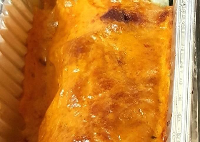 My Sweet Chilli Chicken & Mushroom Enchilada. 😀