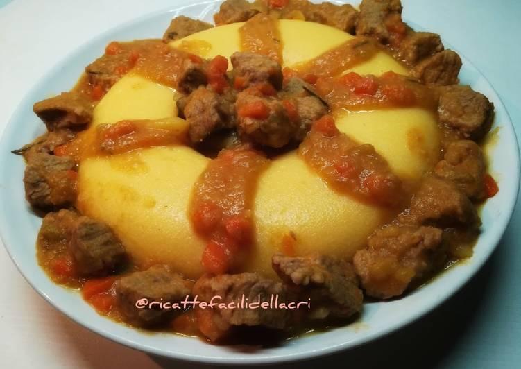 Recipe: Yummy Polenta e spezzatino
