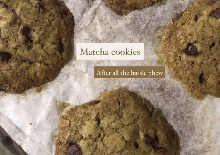 Steps to Make Perfect Matcha cookies