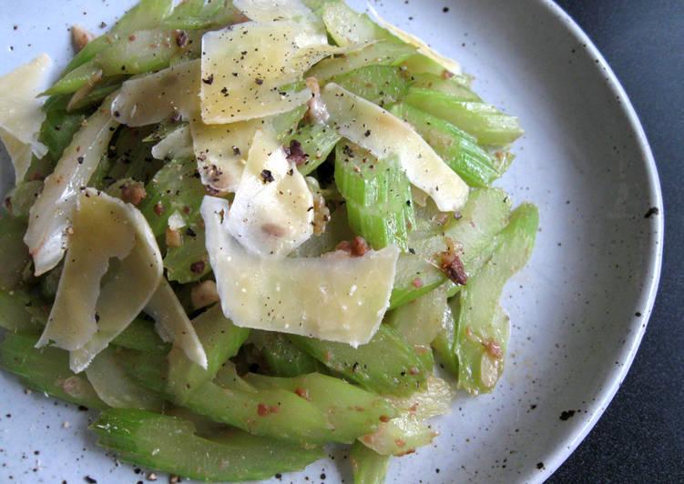 Recipe of Award-winning Anchovy Garlic Sautéed Celery