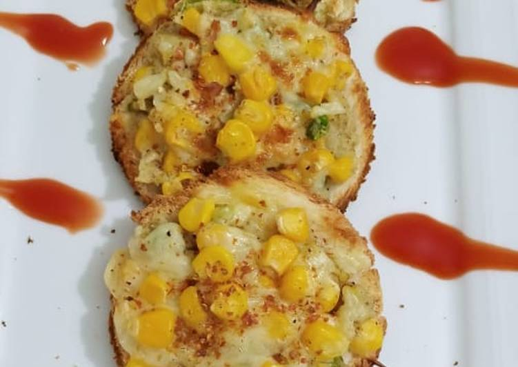 Step-by-Step Guide to Make Quick Sweetcorn toasts �🌽🌽
