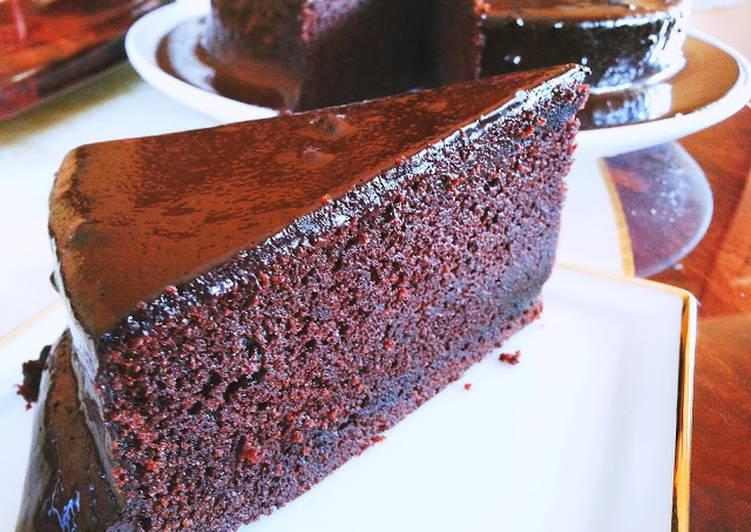 resipi resepi kek coklat moist  mudah  sedap sukatan cawan oleh wani sukarno sk cookpad Resepi Kek Guna Gelatin Enak dan Mudah