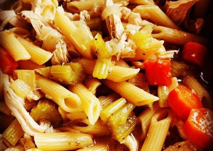 Frozen Instant Pot Chicken Noodle Soup