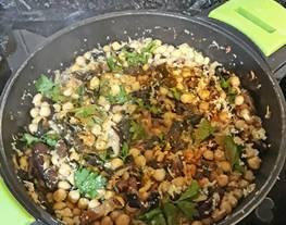 Garbanzos con shiitake y alga wakame - Para diabéticos