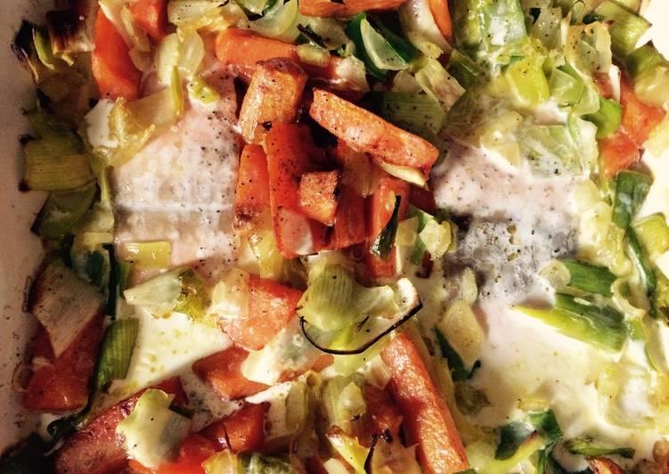 Marmite de légumes et de saumon