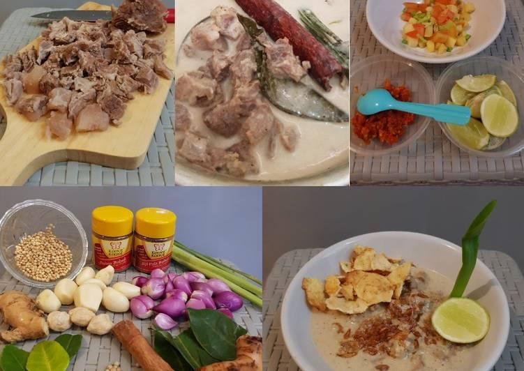 """Cara membuat Soto Betawi """"Less Santan + Susu Low Fat"""""""