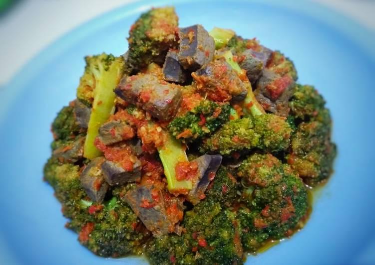 Balado hati sapi & brokoli