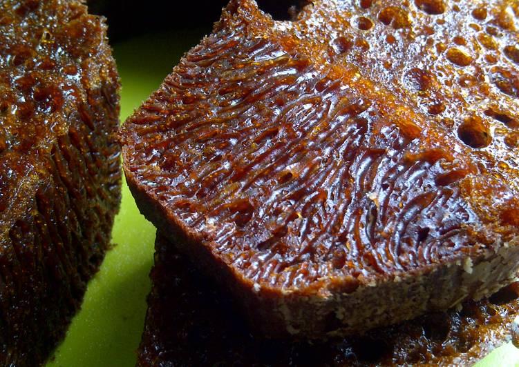 cara buat Bolu Karamel/Sarang Semut - Sajian Dapur Bunda
