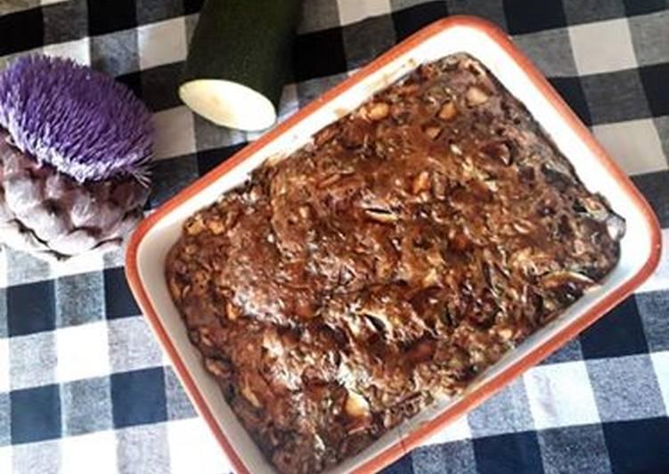 Gâteau de courgettes au bleu d'Auvergne et aromates!