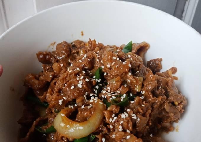 Beef slice ala yoshinoya/hokben