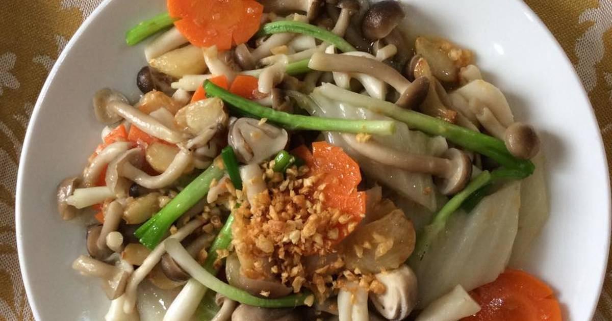 Điều chỉnh chế độ ăn uống với món nấm xào chay - dễ dàng tuy nhiên cung cấp nhiều dinh dưỡng