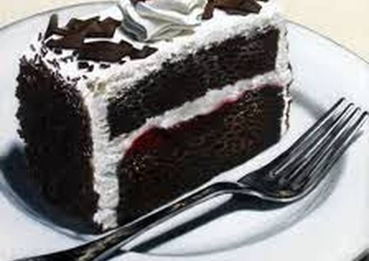 Cherry and Chocolate Cake with Chocolate Sauce