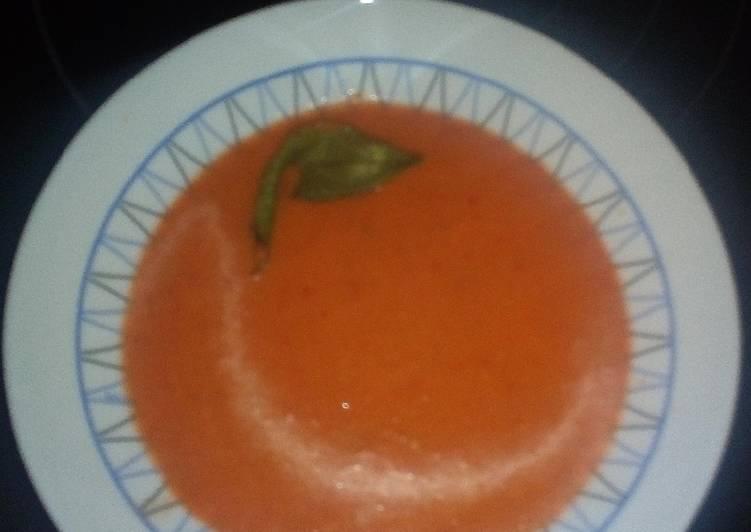 Gazpacho sin pan para dieta
