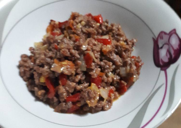Minced beef sauce