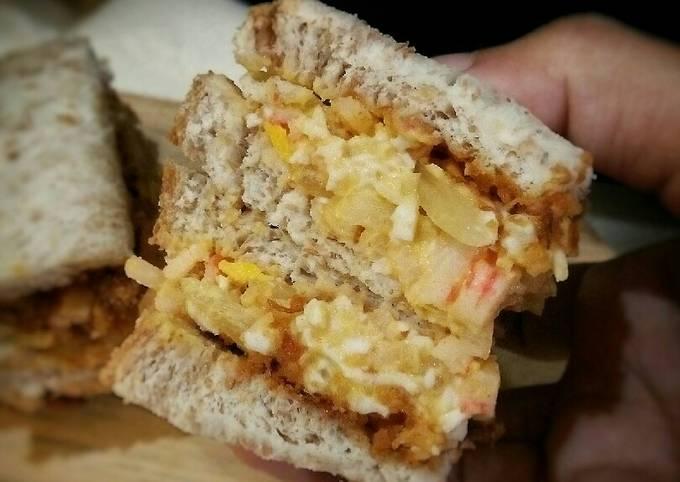 Sandwich Telur dan Abon