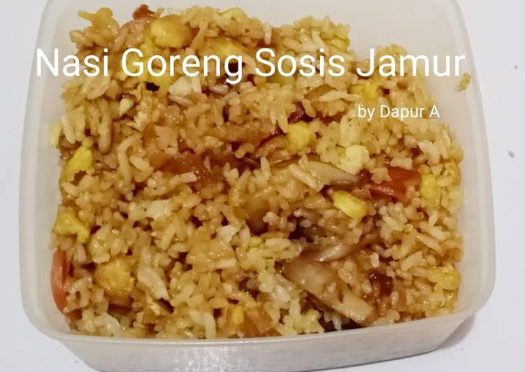 17. Nasi Goreng Sosis Jamur