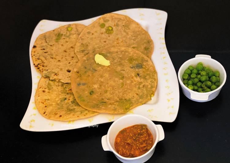 Recipe of Speedy Paneer & Peas Paratha