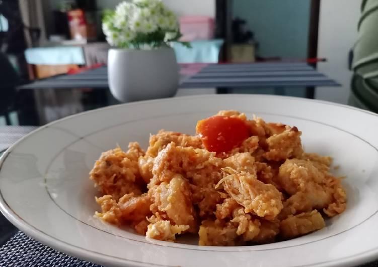 Udang tempe sambal tomat spesial