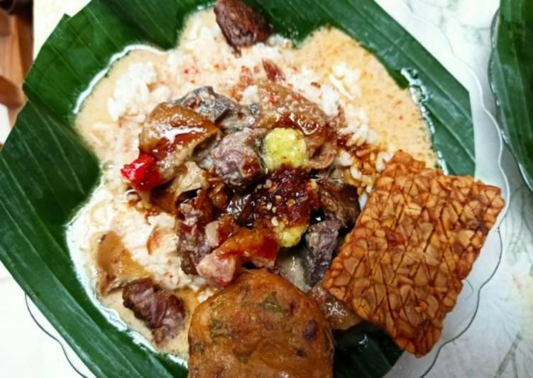4. Nasi Gandul / Sego Gandul khas Pati resep asli