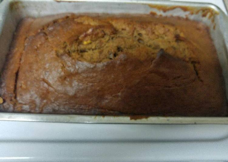 Chocolate banana nut bread