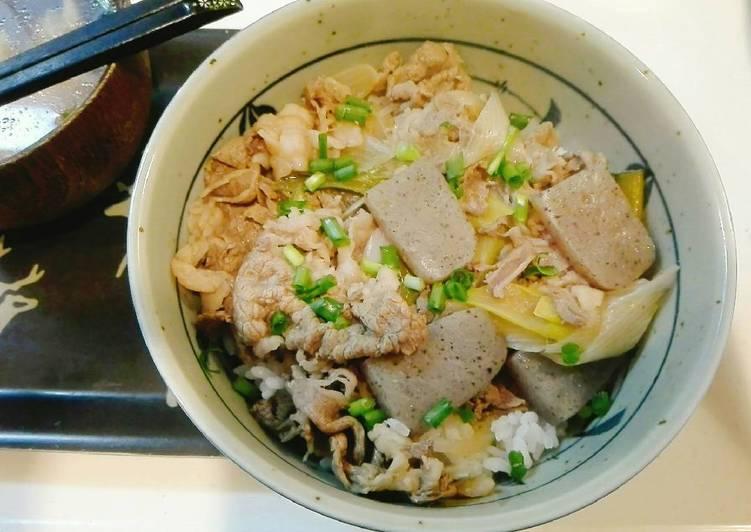 Beef bowl Konyaku - Gyudon sehat