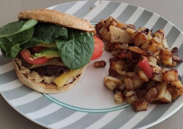 Burger végétarien aux haricots rouges