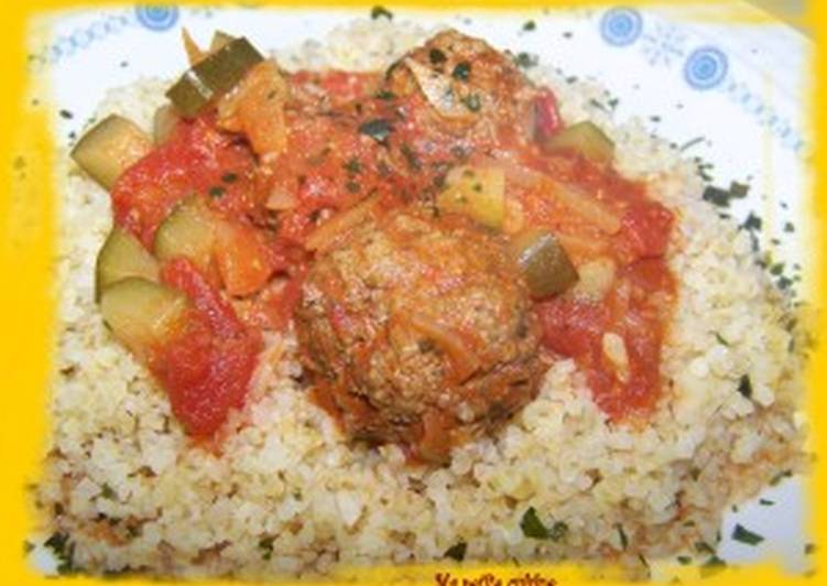 Recette Parfait Boulettes de viande à la marocaine