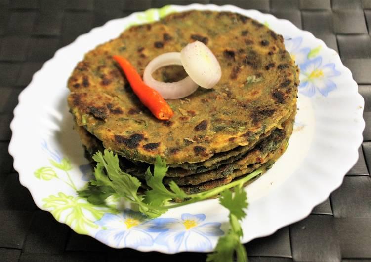 Recipe of Speedy Kulfa Saag Paratha
