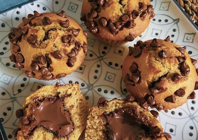 Muffin sans beurre avec coeur coulant