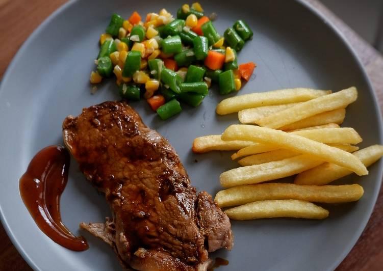 Beef steak simple
