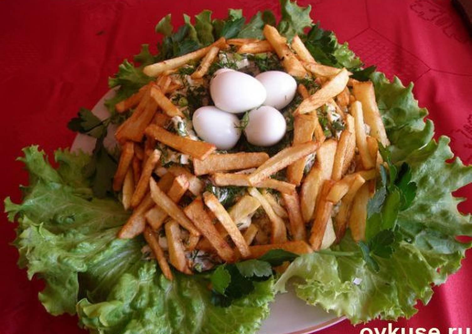 салат глухариное гнездо рецепт с фото пошагово собрали