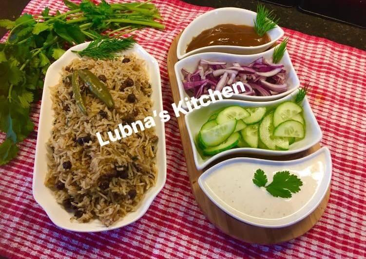 Use Food to Elevate Your Mood Black chickpea Pulao Kale chane ka Pulao