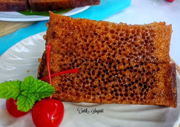 resep masak Bolu karamel (Sarang Semut) - Sajian Dapur Bunda