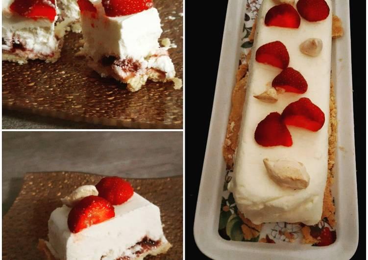 Semifreddo fraise et citron vegan