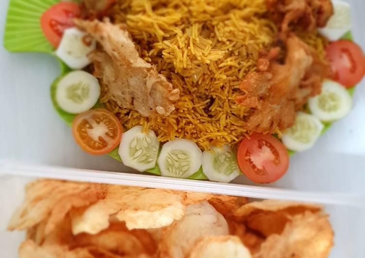 Nasi Kebuli dengan Jamur goreng crispy VEGAN - cookandrecipe.com